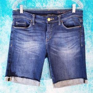 Blank NYC Bermuda Cuffed Denim Jean Shorts